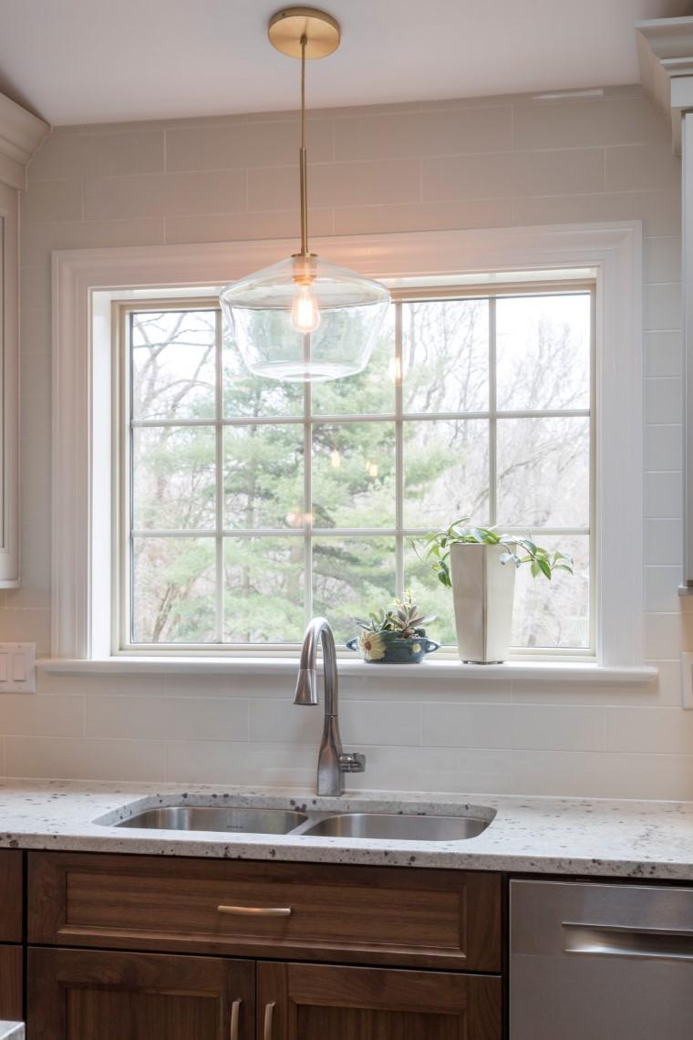 sink kitchen and window